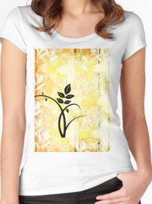 grunge t-shirt design Women's Fitted Scoop T-Shirt