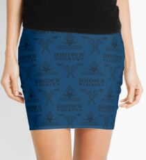 Browncoats forever, Firefly Pattern in Blue Mini Skirt