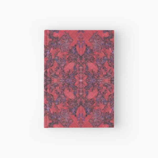 """""""bline odds"""" - oil pastels abstract digital mirrored pattern Hardcover Journal"""