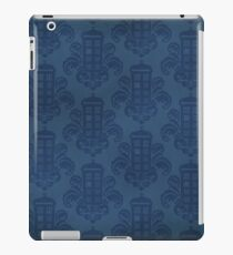 Tardis Damask Pattern iPad Case/Skin