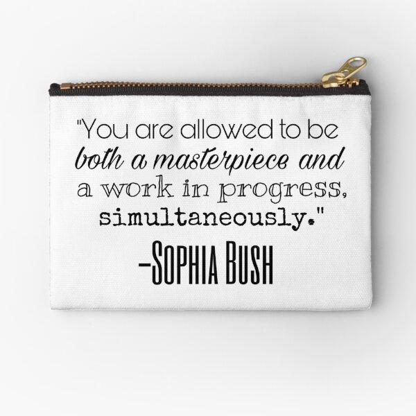 Sophia Bush Quote Zipper Pouch