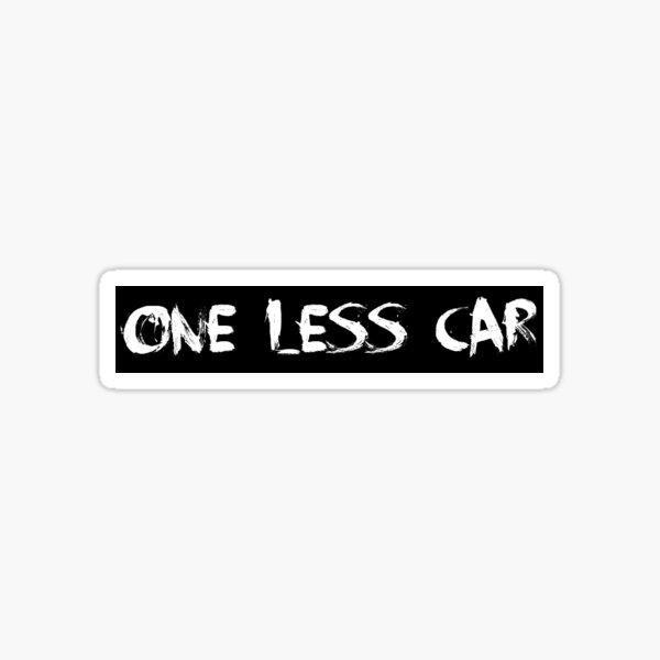 One Less Car Bike Sticker Sticker