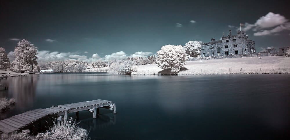 Ripley Castle in Infrared #01 by shutterjunkie