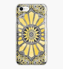 Sunny Yellow Radiant Watercolor Pattern iPhone Case/Skin