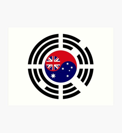 Korean Australian Multinational Patriot Flag Series Art Print
