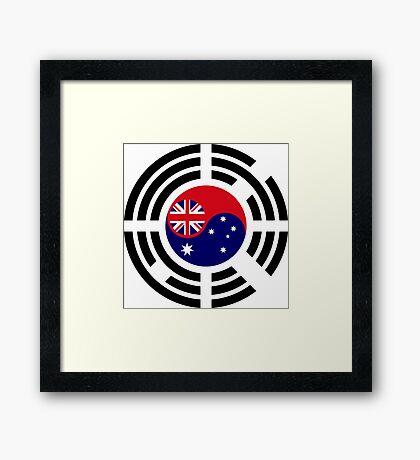 Korean Australian Multinational Patriot Flag Series Framed Print