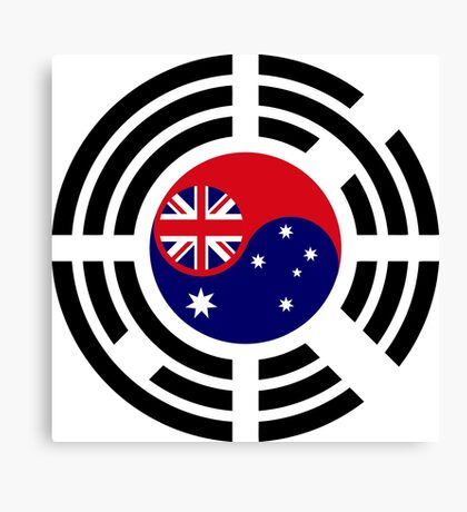Korean Australian Multinational Patriot Flag Series Canvas Print