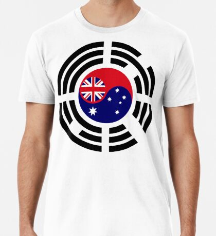Korean Australian Multinational Patriot Flag Series Premium T-Shirt