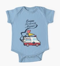 Nuance Retro: Ice Cream Truck Time Machine   One Piece - Short Sleeve