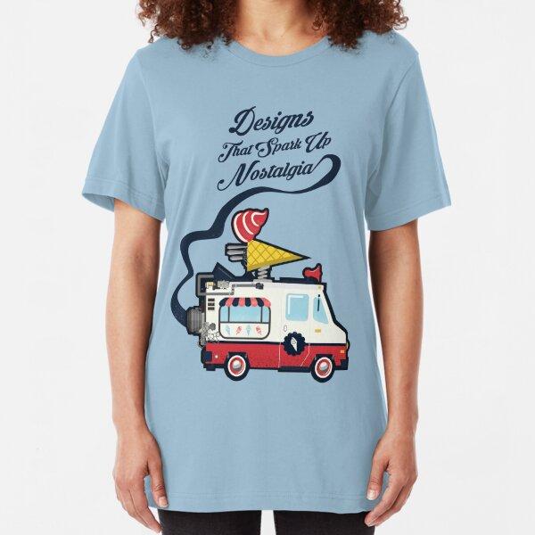 Nuance Retro: Ice Cream Truck Time Machine   Slim Fit T-Shirt
