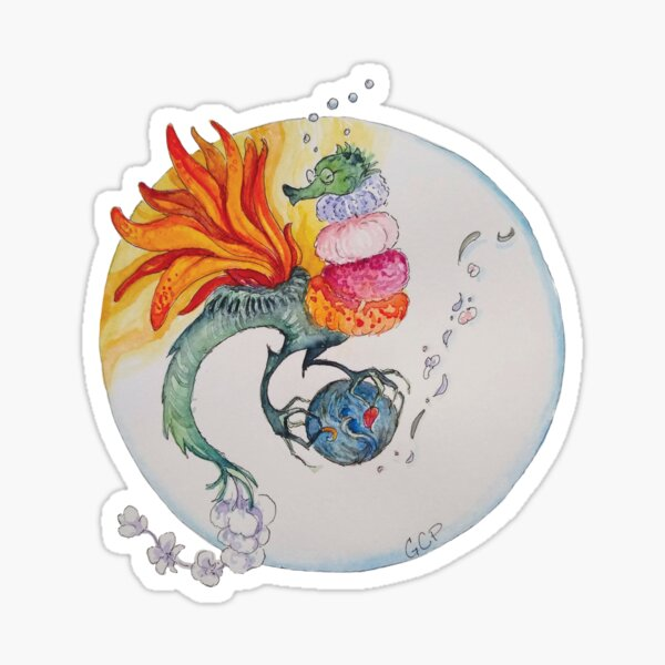 Blooming Tea Dragon - The Professor sticker Sticker
