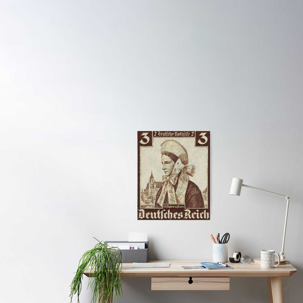 Ostpreussen Trachten...East Prussia Folk Costume Poster