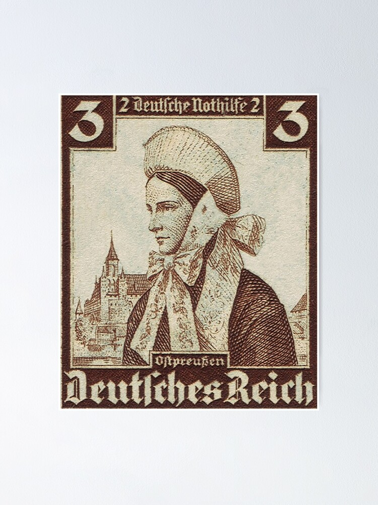 Alternate view of Ostpreussen Trachten...East Prussia Folk Costume Poster
