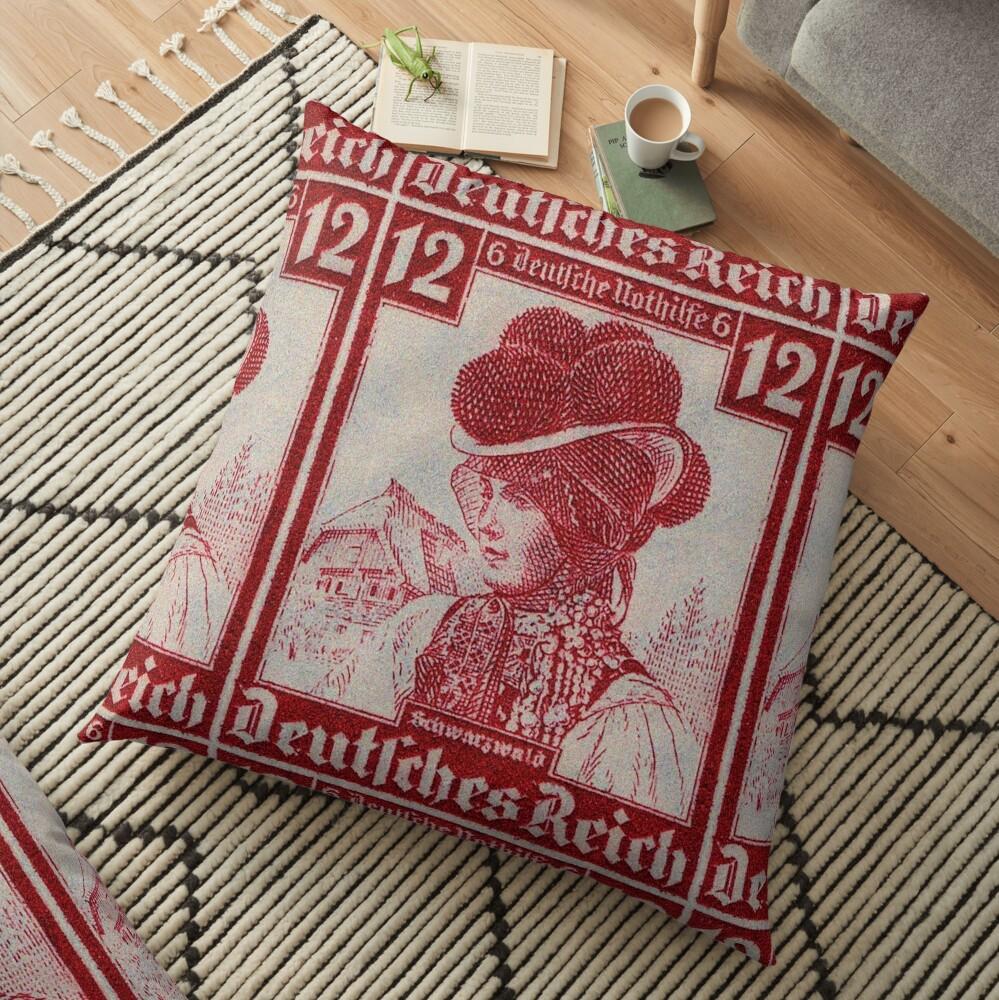 Schwarzwald Trachten...Black Forest Folk Costume Floor Pillow