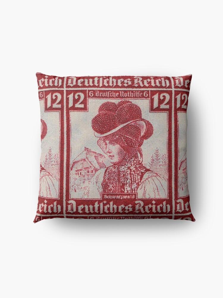 Alternate view of Schwarzwald Trachten...Black Forest Folk Costume Floor Pillow
