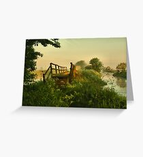 RIVER BLOSSOM Greeting Card