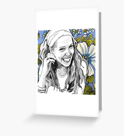 Exquisite, she is. Greeting Card