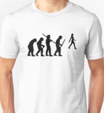 evolution of the hunter Unisex T-Shirt