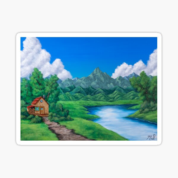 Cabin by the Lake Sticker