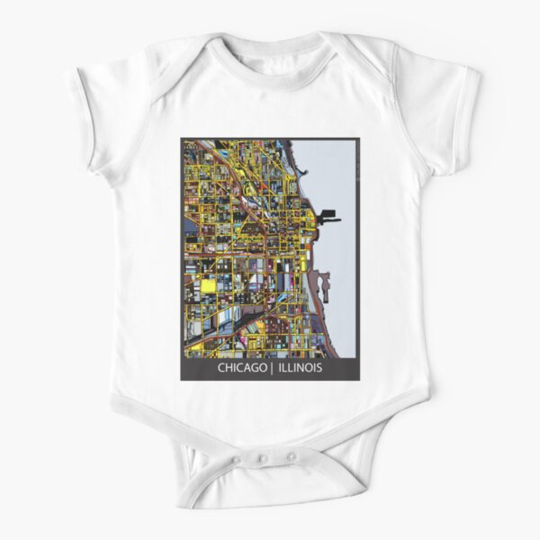 Chicago, IL Short Sleeve Baby One-Piece