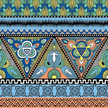 Tribal Aztec pattern by flynshooter
