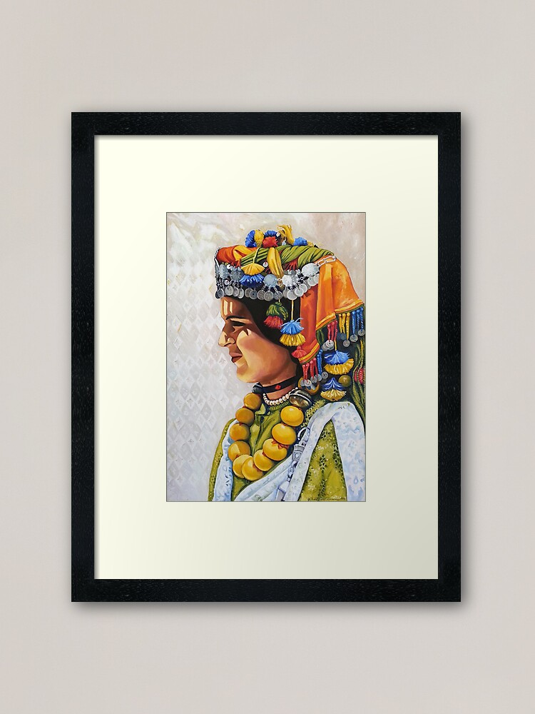 Alternate view of Fatima, Painted oil on Canvas Framed Art Print