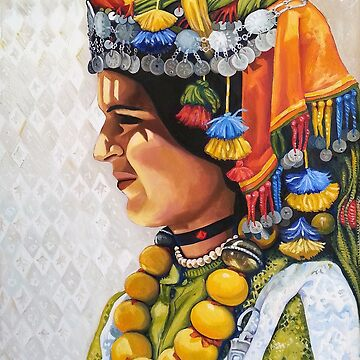 Fatima, Painted oil on Canvas by joannaalmasude