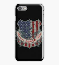 American Zombie Hunter shield iPhone Case/Skin