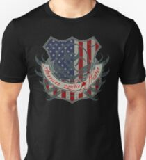 American Zombie Hunter shield Unisex T-Shirt