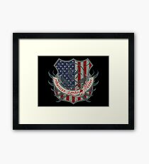 American Zombie Hunter shield Framed Print