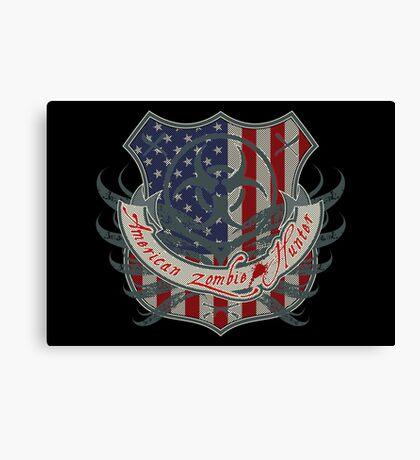 American Zombie Hunter shield Canvas Print