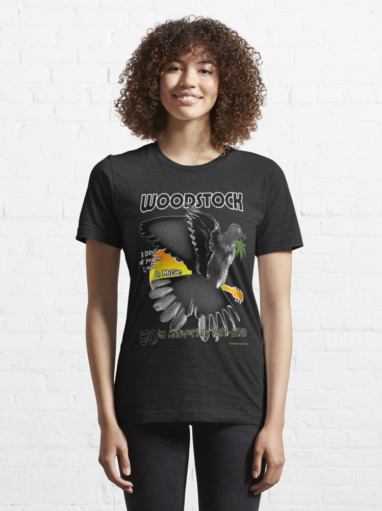 Alternate view of Woodstock 50th Essential T-Shirt