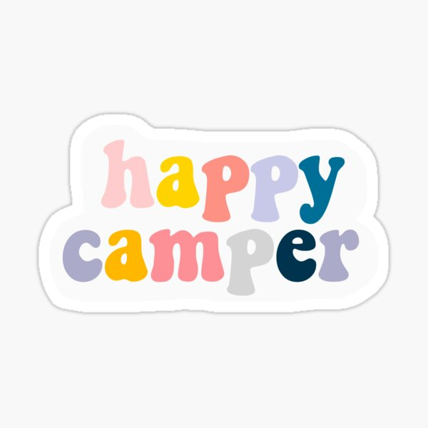 HAPPY CAMPER STICKER Sticker