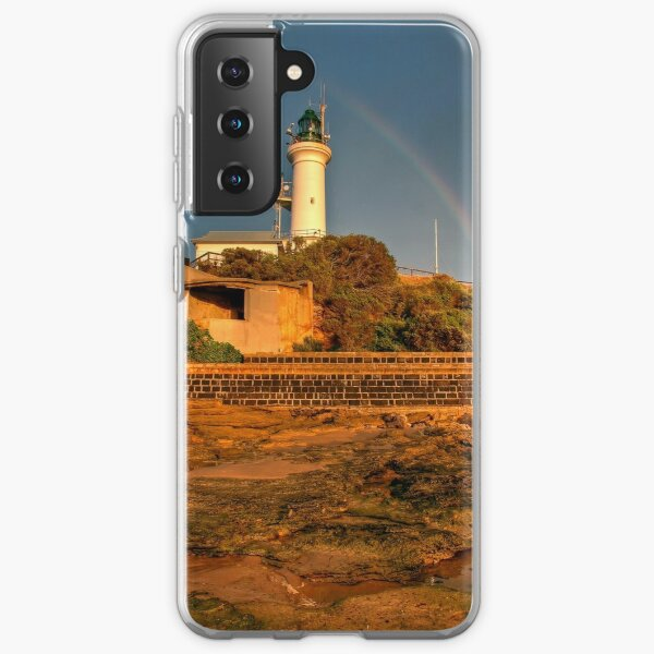 A Rainbow Over Point Lonsdale Lighthouse, Victoria Samsung Galaxy Soft Case