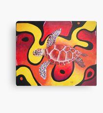 Red Turtle Teddie Metal Print