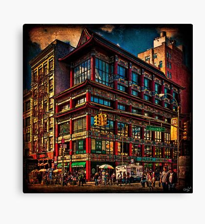 Intersection of Canal & Center Streets, NYC, USA Canvas Print