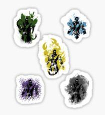 Many faces of Ninjas. Sticker