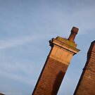 Chimneys of Kettering Station in colour from Kettrin'Kollection by bywhacky