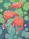 Flamingos by Karen Ilari