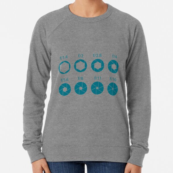 F-Stops-Teal Lightweight Sweatshirt