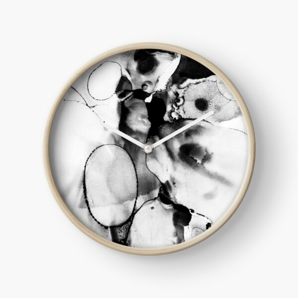 Black And White Abstract Clock