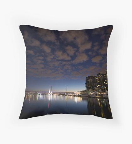 Harbor town Throw Pillow