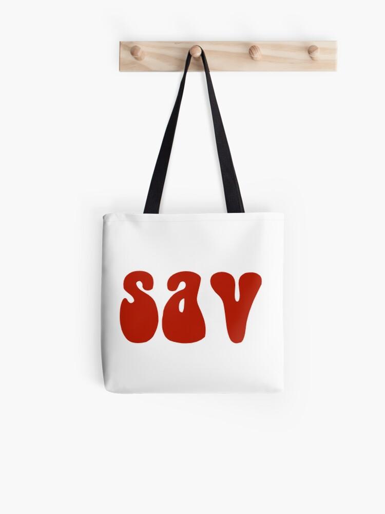 Sav On Bags >> Sav Red Tote Bag