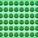 Frog smiles by goanna