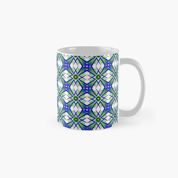 Abstract geometric flowers Classic Mug