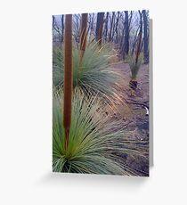 St Andrews Grass Trees Post Black Saturday Greeting Card