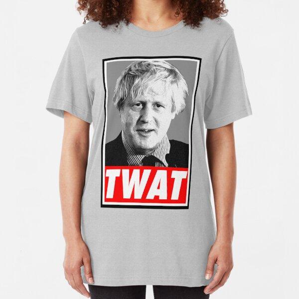 Boris Johnson Twat Slim Fit T-Shirt