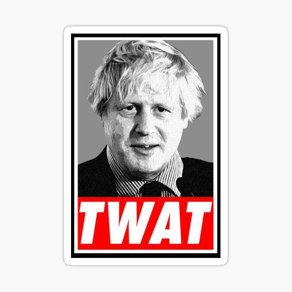 Boris Johnson Twat Sticker