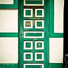 White and Green Door  by Hena Tayeb