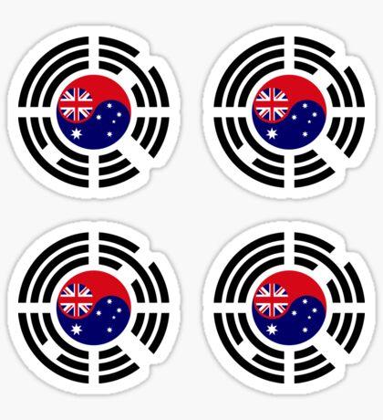 Korean Australian Multinational Patriot Flag Series Glossy Sticker